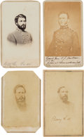 Photography:CDVs, Confederate Generals: Four Cartes de Visite... (Total: 4 )