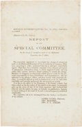 Miscellaneous:Broadside, Confederate Broadside: Report of the Special Committee on theCharge of corruption made in the Richmond Examiner, Jan. 7...