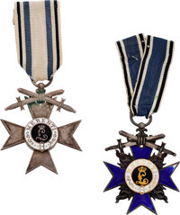 Lot of Two Bavarian Medals