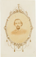 Autographs:Military Figures, Confederate General James R. Chalmers Signature and Carte deVisite.... (Total: 2 )