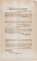 Miscellaneous:Ephemera, [Confederate Imprint]. Message of the President with anEstimate for the Steamer Phoenix....
