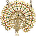Music Memorabilia:Memorabilia, Elvis Presley Gifted Peacock Necklace to Linda Thompson (1970s)....