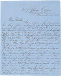 Autographs:Military Figures, U.S. Naval Letter from Mississippi Sound....
