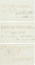 Autographs:Military Figures, Three Receipts for the 2nd Mississippi Infantry.... (Total: 3Items)