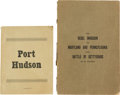 Miscellaneous:Ephemera, [Port Hudson] and [Battle of Gettysburg]. Two Booklets... (Total: 2)