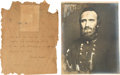 Photography:Ambrotypes, Stonewall Jackson Carbon Copy Print.... (Total: 2 Items)