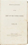 Miscellaneous:Booklets, Army Regulations for 1857....
