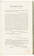 Miscellaneous:Booklets, 1836 Military Regulations and Exercises Manual. ...