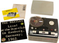 Music Memorabilia:Recordings, Beatles - Portable Reel To Reel Tape Recorder Used At TheStar-Club, Hamburg With a Tape Recording of The Beatles....