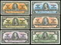 Canadian Currency: , A Selection of a Half Dozen Canadian Notes from the 1937 Issue.. ... (Total: 6 notes)