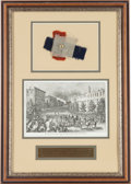 "Military & Patriotic:Civil War, ""Relics of the Confederate Flag That Floated From the Capitol at Richmond the Day Before Its Occupation by the Federal Troops""..."