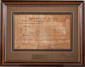 Autographs:Statesmen, Jefferson Davis Confederate Letter of Marque Signed....