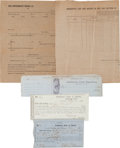 Autographs:Military Figures, Five Confederate Documents.... (Total: 5 Items)