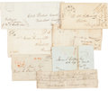 Autographs:Military Figures, Group of Antebellum Mississippi Letters... (Total: 7 Items)