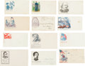 Military & Patriotic:Civil War, Collection of 27 Civil War Patriotic Envelopes Honoring Prominent Figures....