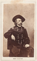 Photography:CDVs, Major General George Armstrong Custer Carte de Visite, Circa May 1865....