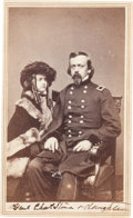 Photography:CDVs, Carte de Visite of Union General Charles Pomeroy Stone and Daughter....