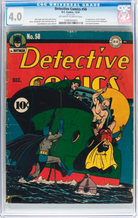 Detective Comics #58 (DC, 1941) CGC VG 4.0 Off-white to white pages