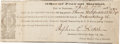 Miscellaneous:Ephemera, Parole and Pass for Confederate Soldier....