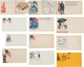 Military & Patriotic:Civil War, Large Collection of 131 Colorful Civil War Patriotic Envelopes....