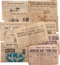 Miscellaneous:Newspaper, Collection of Vintage Newspapers...