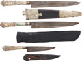 Edged Weapons:Knives, Lot of Three Gaucho Knives with Scabbards.... (Total: 3 Items)