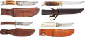 Edged Weapons:Knives, Lot of Four Hunting Knives with Scabbards.... (Total: 4 Items)