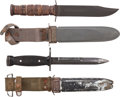 Edged Weapons:Knives, Lot of Two U.S. Fighting Knives and Scabbards.... (Total: 2 Items)