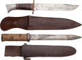 Edged Weapons:Knives, Lot of Two Knives and Scabbards.... (Total: 2 Items)