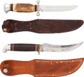 Edged Weapons:Knives, Lot of Two Hunting Knives.... (Total: 2 Items)