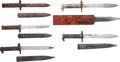 Edged Weapons:Bayonets, Lot of Five Assorted Bayonets.... (Total: 5 Items)