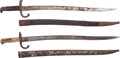 Edged Weapons:Bayonets, Lot of Two Yataghan Style Bayonets.... (Total: 2 Items)