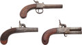 Handguns:Muzzle loading, Lot of Three Percussion Boot Pistols.... (Total: 3 Items)