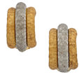 Estate Jewelry:Earrings, White Gold, Gold Earrings. ...