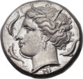 Ancients:Greek, Ancients: SICILY. Syracuse. Agathocles (317-289 BC). AR tetradrachm(24mm, 16.78 gm, 10h)....