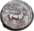 Ancients:Greek, Ancients: SYRACUSE. Syracuse. Second Democracy. Ca. 466-406 BC. ARtetradrachm (27mm, 17.43 gm, 12h).  ...