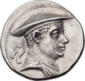 Ancients:Greek, Ancients: GRECO-BACTRIAN KINGDOM. Antimachus I Theos (ca. 180-165BC). AR tetradrachm (34mm, 17.01 gm, 12h).  ...