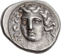 Ancients:Greek, Ancients: THESSALY. Larissa. Ca. 385-365 BC. AR drachm (22mm, 6.13 gm, 6h). ...