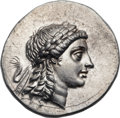 Ancients:Greek, Ancients: AEOLIS. Myrina. Ca. 155-145 BC. AR tetradrachm (34mm,16.15 gm, 12h). ...