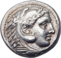 Ancients:Greek, Ancients: MACEDONIAN KINGDOM. Alexander III the Great (3360323 BC),AR tetradrachm (27mm, 7.21 gm, 3h). ...