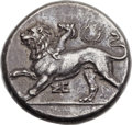 Ancients:Greek, Ancients: PELOPONNESUS. Sicyon. Late 330s BC. AR stater (24mm,12.23 gm, 9h).  ...