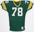 Football Collectibles:Uniforms, 1988-89 #78 Green Bay Packers Game Worn Jersey. ...