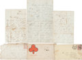 Autographs:Military Figures, Union Private Henry Richards Civil War-dated Letters (Three)....(Total: 3 Items)