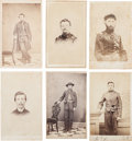 Military & Patriotic:Civil War, Six Cartes de Visite of Identified Officers and Men From Illinois Regiments....