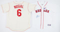 Baseball Collectibles:Uniforms, Jim Rice and Stan Musial Signed Jerseys (2)....