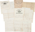 Autographs:Military Figures, Union Private William J. McKee Military Archive,...