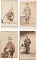 Military & Patriotic:Civil War, Four Cartes de Visite of Identified Officers of the 5th New Hampshire Infantry and CDV of the 5th NH Battle-Scarre...