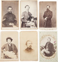 Military & Patriotic:Civil War, Six Civil War Cartes de Visite, Two Identified....