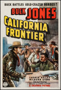 "Movie Posters:Western, California Frontier (Columbia, 1938). One Sheet (27"" X 41""). Western.. ..."