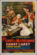 "Movie Posters:Serial, The Last of the Mohicans (Mascot, 1932). One Sheet (27"" X 41"").Serial. Chapter 3 -- ""Rifle or Tomahawk."". ..."